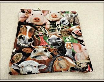 pig Snack Bag, farm animal toiletry Bag, pig makeup bag, portion control Bag, pig lover Bag, diet bag, kids snack bag, water resistant bag