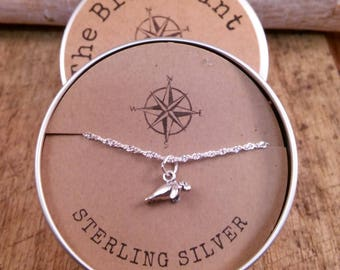 Manatee Sterling Silver Charm Pendant Necklace  /Teenager gift / Sterling Silver / Beach Pendant/ co-worker gift / bridesmaid gift