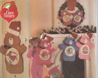 Care Bear Stocking Pattern Christmas Wreath Card Holder Uncut Simplicity 8161
