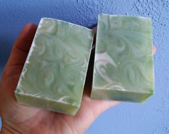 Bergamot White Tea Handmade Soap Gift, Herbal, Women, Men, Teens, Birthday, Gift for Him, Gift For Her, Christmas, Mother's Day Father's day