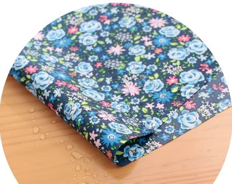Wide Dual Waterproof Polyester Fabric By the yard  'Small Flowers ' (width 59 inches) 90336