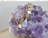 SALE Amethyst Necklace, Amethyst Jewelry, Amethyst Choker, Purple Necklace, Purple Jewelry, February Birthstone,Short Necklace, Coin Necklac