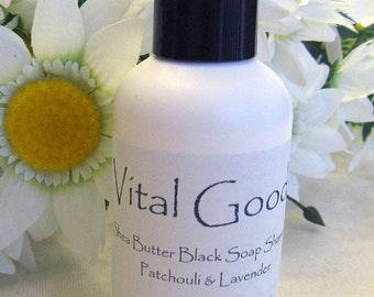 ON SALE Dreadlock Shampoo Patchouli Lavender Shea Butter Black Soap Shampoo 4oz