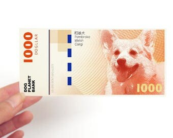 Dog Money Bill, Chinese New Year Lucky Money, Chinese Zodiac Animal Personalize Birthday Gift for born in 1946 1958 1970 1982 1994 2006 2018