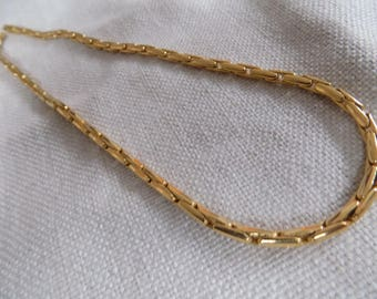 Vintage necklace, signed necklace,JNY chain, Jones New York,golden chain,18 inch chain,designer necklace
