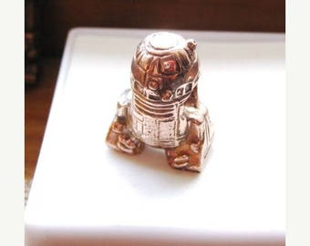 Summer time Sale Event Hey R2 Do You Remember Princess Leia Handmade Large 5mm Hole Charm Copper/ Fine Silver jewelry R2D2 bead C3P0 Darth V