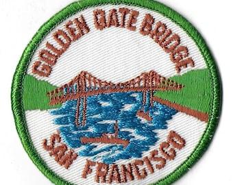 Vintage 1970's Unused San Francisco - Golden Gate Bridge - Fabric Patch
