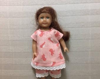 Mini AG doll pink pajamas