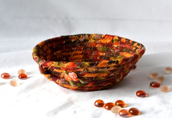 Desk Accessory Basket, Handmade Ring Tray Ring Bowl, Jewelry Catcher,  Cute Candy Dish Bowl, Paperclip Holder, Fiber Bowl