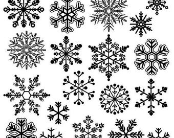 BACK TO SCHOOL Sale Snowflake Clipart Clip Art, Snowflake Silhouette Clip Art Clipart- Commercial and Personal