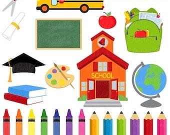 BACK TO SCHOOL Sale School Clipart Clip Art, Graduation Teacher Education Clipart Clip Art Vectors - Commercial and Personal Use