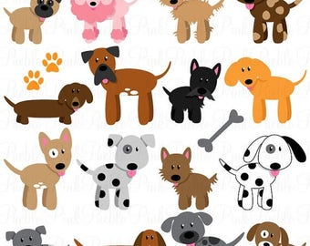 BACK TO SCHOOL Sale Dog Clipart Clip Art, Puppy Clipart Clip Art Vectors - Commercial and Personal Use