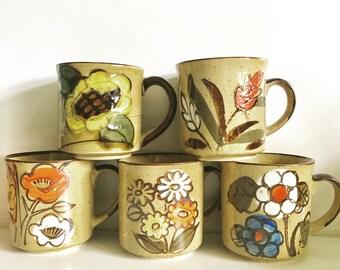 Vintage Japan Stoneware Mug Set