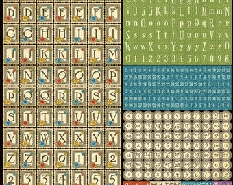 Graphic 45 Children's Hour Alphabet Sticker 12x12 Sheet