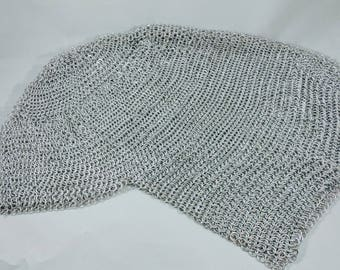 Chainmail Coif Headdress   Larping garb   SCA Garb   Cosplay   Chain mail knight head piece