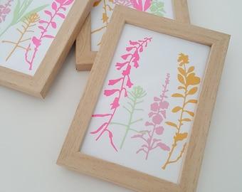 lijstje met wilde bloemen van papier, floral art, paper floral, paper flowers