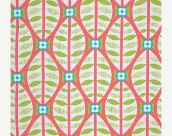 SALE 30% Off - Buttonwood in Coral  - LA DEE Da  (pwEm038) - Erin McMorris - Free Spirit Fabric  - By the Yard