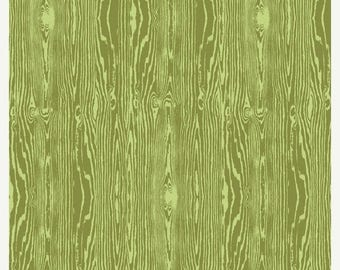 SALE 10% Off - Joel Dewberry - AVIARY2 -Woodgrain in Dill JD42 - Free Spirit Fabric - By the Yard