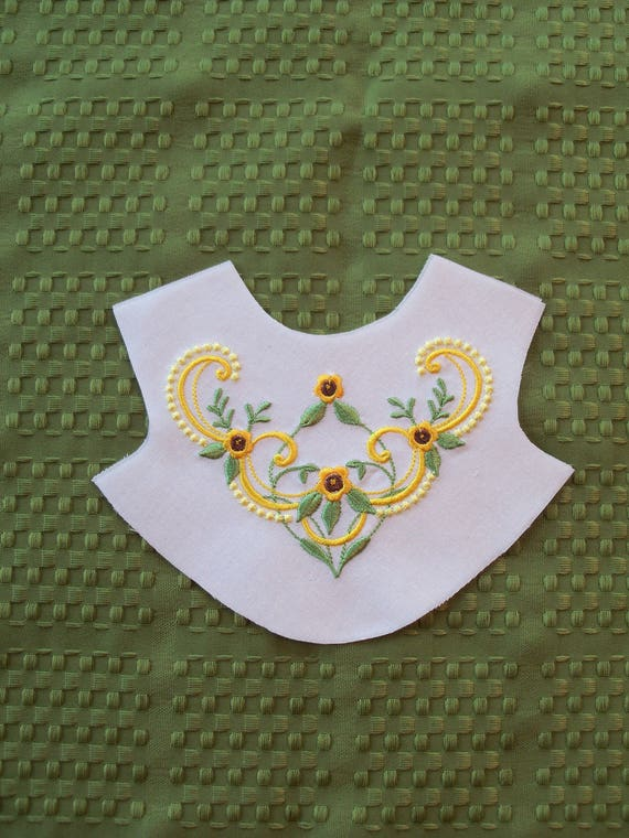 "18"" Size / Elaborate Embroidered Bodice  Front Overlay / Lining Included / Sewing for 18"" American Girl Dolls"