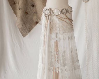Bohemian - tribal lace skirt