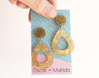 Boho Acrylic Earrings Statement Earrings Opal Earrings Teacher Gift Dangle Earrings Laser Cut Earrings Big Earrings Drop Earring Coachella