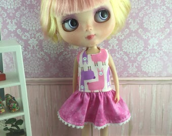 Blythe Drop Waist Dress - Alpacas