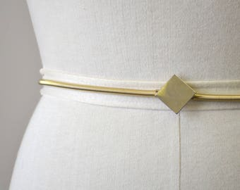 1970s Gold Metal Coil Stretchy Belt