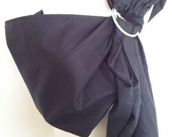Baby Ring Sling Carrier / Sling / Carrier / Reversible / Unpadded / Black / Cotton / Handmade / Made in UK