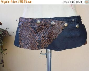 "20%OFF crocodile leather snakeskin steampunk bohemian gypsy leather  belt....40"" to 48'' hips or waist..."