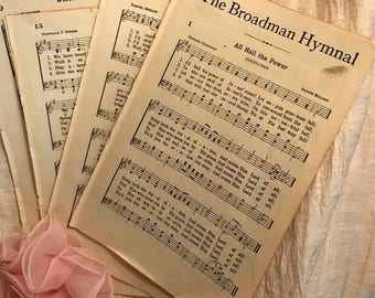 15  Vintage 1946 Hymnal  pages