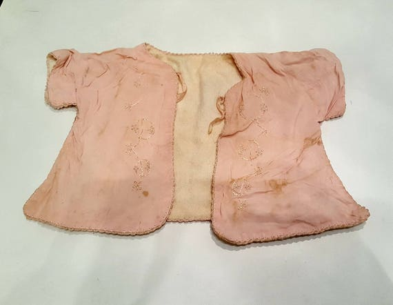 Vintage pink jacket baby outfit