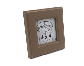 4x4 Moab picture frame - Mocha - Instagram, Home Decor, Wedding Favors, Wall Decor, Solid Wood, Handmade