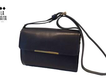"""Naomi"" black leather handbag"