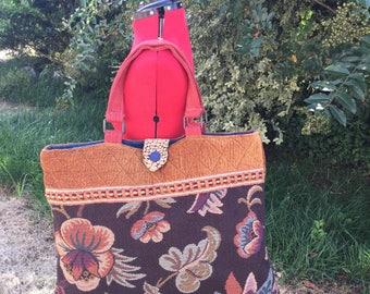 Fall Winter Floral Tote Bag