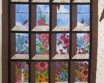 Garden Window quilt top.