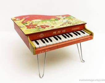 Vintage Klavier Spielzeug der 70er Jahre / Klavier Spielzeug für Kinder / Vintage Spielzeug 60er Jahre 70er Jahre