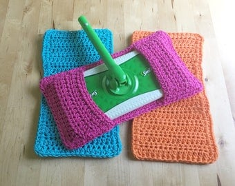 Swiffer Cover Set of 3 Reusable Swiffer Cover Crochet Swiffer Pad Eco friendly Mop Covers Sweeper cover Swifter Cover