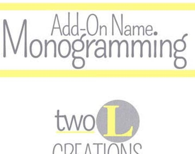 Name Monogramming onto Men's Bow tie or Neck Tie