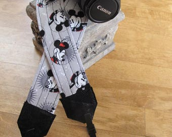 Mickey and Minnie Mouse Camera Strap Disney