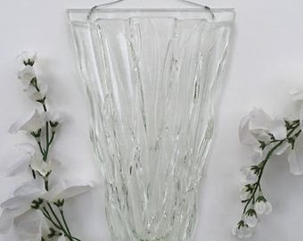 Wall art, Fused Glass, Wall Pocket Vase.