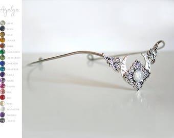 Moon crown -Elven moon tiara with moonstone