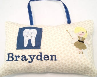 Tooth Fairy Pillow, Personalized Tooth Fairy Pillow, Boys Tooth Pillows, Tooth Pillow, Boys Tooth Fairy Pillow, Tooth Fairy Pillow Boy,