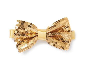 Men's Sequin Bow Tie - Champagne Gold