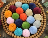 """Luxe Pom Poms with Loops for Jewelry, New FALLPantone Colors, 1"""" Designer Jewelry Making Charms, Summer Trend, Handmade Cotton, Pairs"""