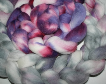 """8 oz.""""Bentley"""" Targee Hand dyed combed top Wool Roving"""