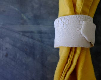 Torn Napkin Rings (MADE TO ORDER)