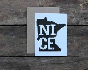 Minnesota Nice State Thank You Greeting Cards with Envelopes / Wedding / Shower / Engagement / Set of 10