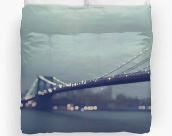 Brooklyn Bridge Photography Duvet Cover