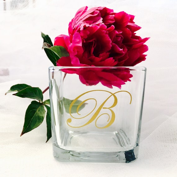 Wedding Monogram letters for Favors, Candleholders
