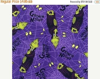 ON SALE Spooktacular Seuss, Grinch,  ADE-15303-282, Robert Kaufman Fabrics, 1/2 Yards
